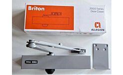 BRITON 2003 DOOR CLOSER SILVER WIND THROUGH ADJUSTABLE 2-4 CE & CERTIRE