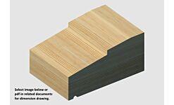Premier Grade Redwood Step Cill Ex 75 x 138mm