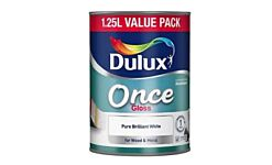 Gloss Once Dulux Brilliant White 1.25L