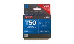 ARRT5014  ARROW STAPLES T50 1/4 (box 1250)