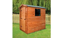 Cottage Apex Shed - Overlap Treated 1.8 X 1.2M (Home Delivery)