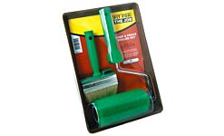 """Fir For The Job Roller & Tray Kit Shed & fence roller, frame & tray with 4"""" brush"""