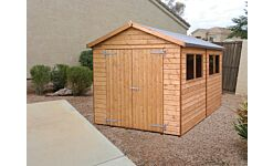 Major HD Apex Shed Double Door T&G Treated 3.6 X 2.0M  (Home Delivery)