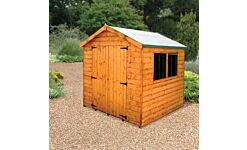 Norfolk Apex Shed Double Door T&G Treated 2.4 X 1.8M (Home Delivery)