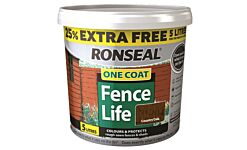 Ronseal One Coat Fencelife Country Oak 4L + 25% FREE