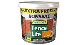 Ronseal One Coat Fencelife Harvest Gold 4L + 25% FREE