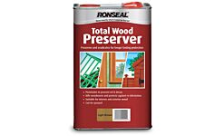 Ronseal Total Wood Preserver For The Trade Light Brown 5L