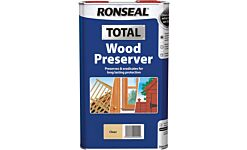 Ronseal Total Wood Preserver For The Trade Clear 5L