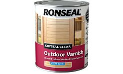 Ronseal Trade Crystal Clear Outdoor Varnish Clear Satin 750ml