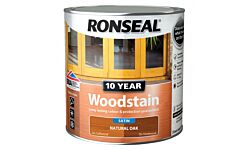 Ronseal Trade 10 Year Woodstain Natural Oak 2.5ltr