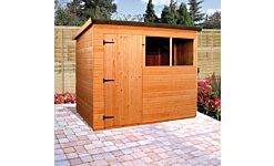 Suffolk Pent Shed - T&G Treated R/H Door 2.4  X 1.8M (Home Delivery)